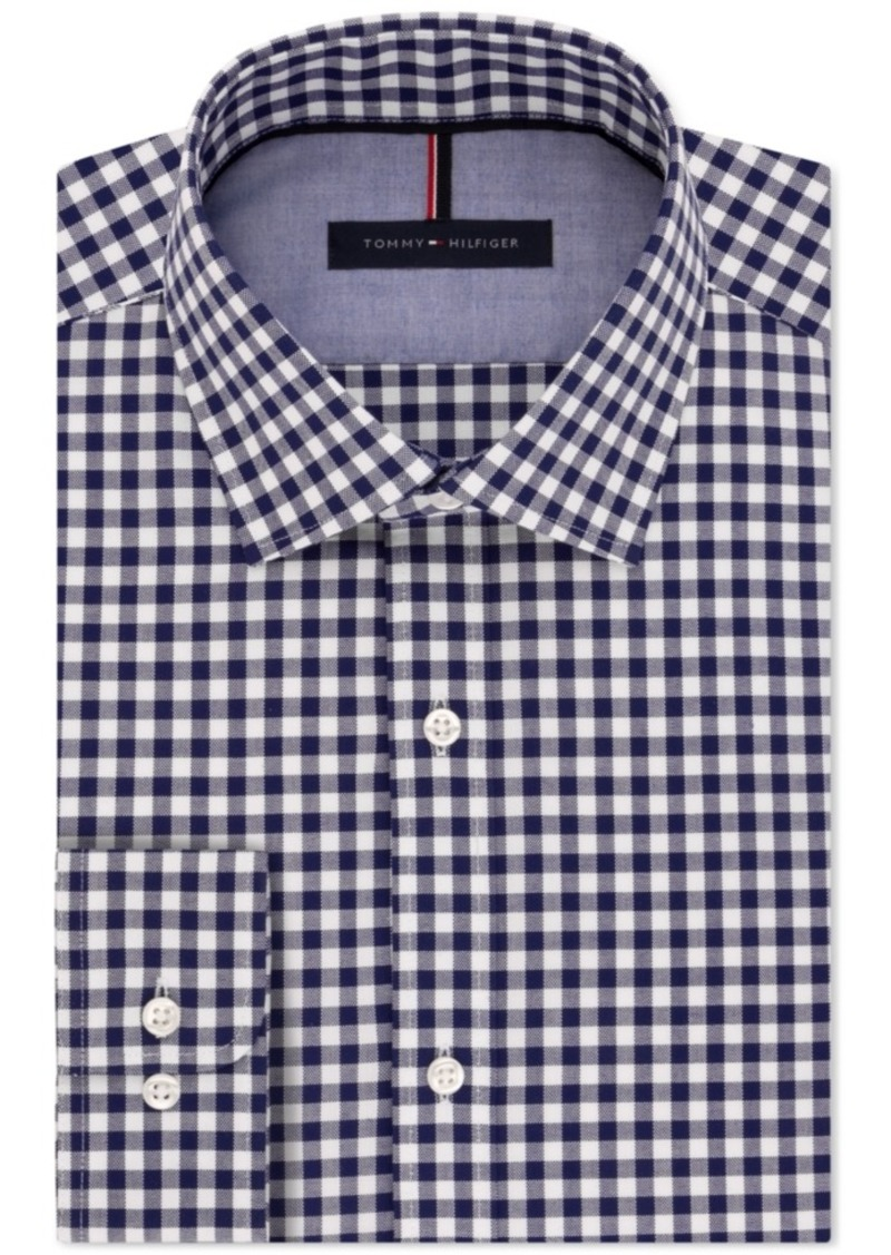 tommy hilfiger tommy hilfiger men 39 s slim fit navy gingham