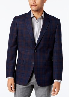 Tommy Hilfiger Men's Slim-Fit Navy Plaid Sport Coat