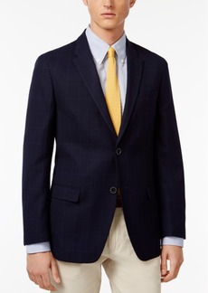 Tommy Hilfiger Men's Slim-Fit Navy Windowpane Sport Coat