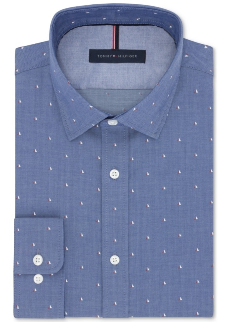 Tommy hilfiger tommy hilfiger men 39 s slim fit non iron blue for Slim fit non iron shirts