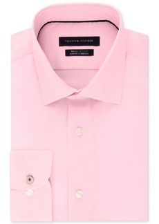 Tommy Hilfiger Men's Supima Cotton Slim Fit Non-Iron Performance Stretch Dress Shirt