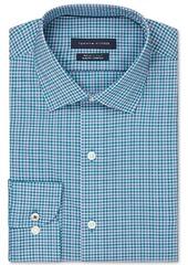 Tommy Hilfiger Men's Slim-Fit Non-Iron Th Flex Performance Stretch Check Dress Shirt