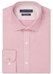 Tommy Hilfiger Men's Slim-Fit Non-Iron Th Flex Performance Stretch Solid Dress Shirt