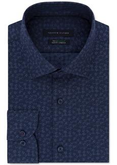 Tommy Hilfiger Men's Slim-Fit Non-Iron THFlex Performance Stretch Floral-Print Supima Cotton Dress Shirt