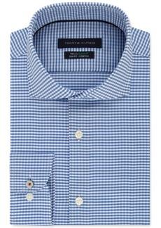 Tommy Hilfiger Men's Slim-Fit Non-Iron THFlex Supima Stretch Check Dress Shirt