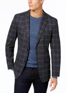Tommy Hilfiger Men's Slim-Fit Stretch Performance Gray/Blue Deco Windowpane Sport Coat