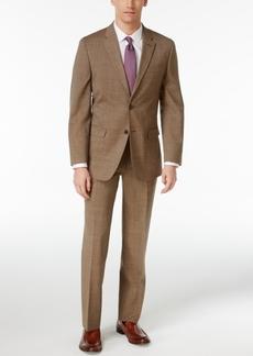 Tommy Hilfiger Men's Slim-Fit Stretch Performance Light Brown Pindot Suit