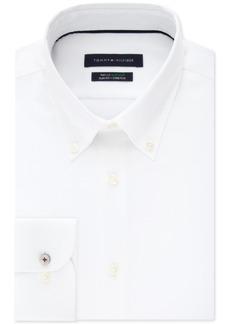 Tommy Hilfiger Men's Slim-Fit Th Flex Non-Iron Supima Stretch White Dress Shirt