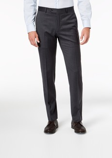 Tommy Hilfiger Men's Slim-Fit Th Flex Stretch Gray/White Stripe Suit Pants