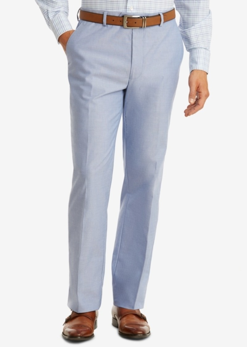 098523571 Men's Modern-Fit Th Flex Stretch Blue Chambray Suit Pants. Tommy Hilfiger