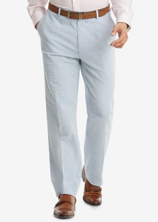 Closeout! Tommy Hilfiger Men's Slim-Fit THFlex Stretch Blue/White Stripe Seersucker Suit Pants