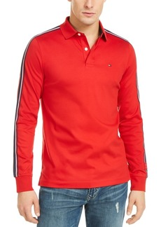 Tommy Hilfiger Men's Slim-Fit Tiley Sleeve Taped Long Sleeve Polo Shirt