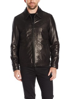 Tommy Hilfiger Men's Smooth Lamb Leather Laydown Collar James Dean Jacket  M
