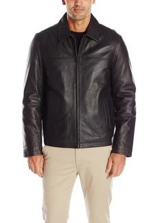 db6eb370 Tommy Hilfiger Men's Smooth Lamb Leather Laydown Collar Open Bottom Jacket  XL