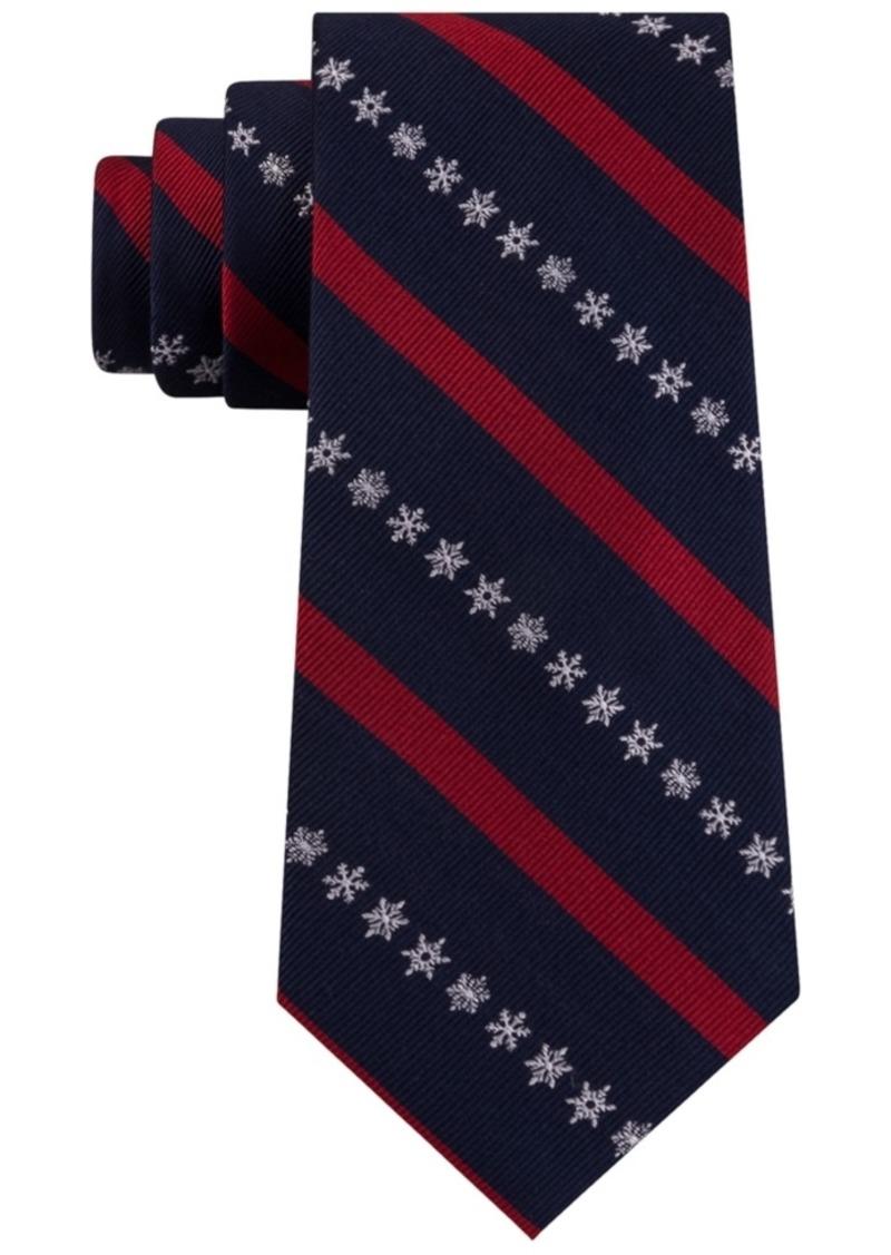 Tommy Hilfiger Men's Snowflake Stripe Tie