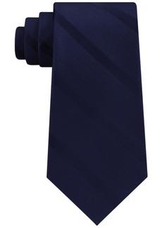 Tommy Hilfiger Men's Solid Textured Stripe Silk Tie