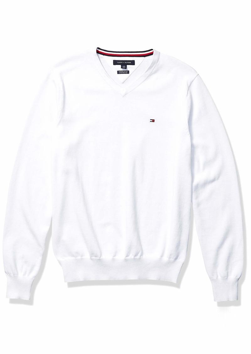 Tommy Hilfiger Men's Solid V Neck Sweater