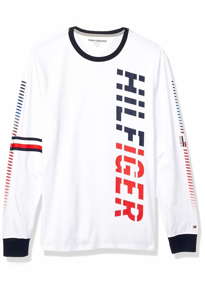 Tommy Hilfiger Men's Sport Long Sleeve Graphic T Shirt  SM