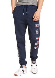 Tommy Hilfiger Men's Sport Tech Classic-Fit Logo-Print Fleece Sweatpants