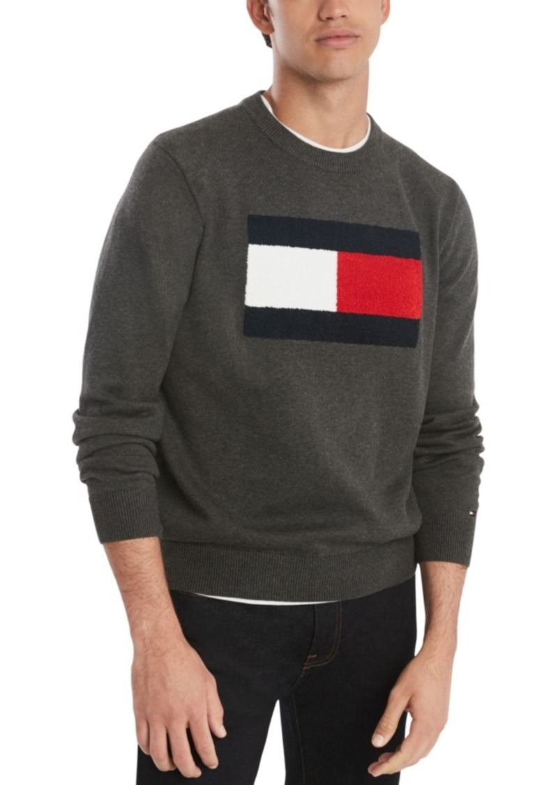 Tommy Hilfiger Men's Big & Tall Stan Tufted Chenille Logo Sweater
