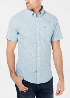 Tommy Hilfiger Men's Star-Print Classic-Fit Dobby Shirt, Created for Macy's