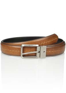 Tommy Hilfiger Men's Stitch Detail Reversible Belt