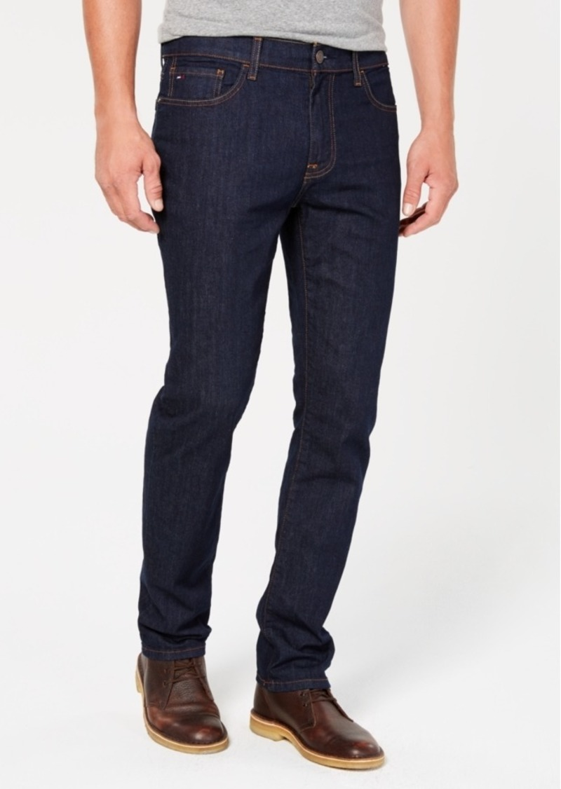 Tommy Hilfiger Men's Big & Tall Straight Fit Stretch Jeans, Created for Macy's