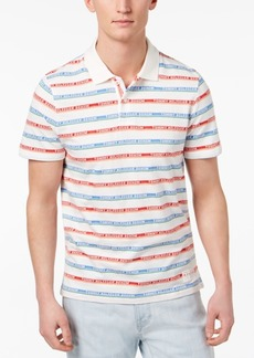 Tommy Hilfiger Men's Striped Logo Custom Fit Polo, Created for Macy's
