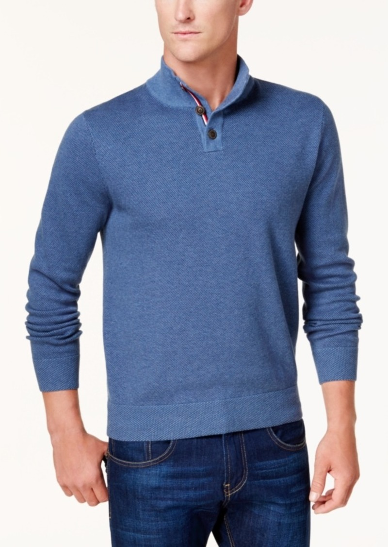Tommy Hilfiger Tommy Hilfiger Mens Textured Polo Sweater Created