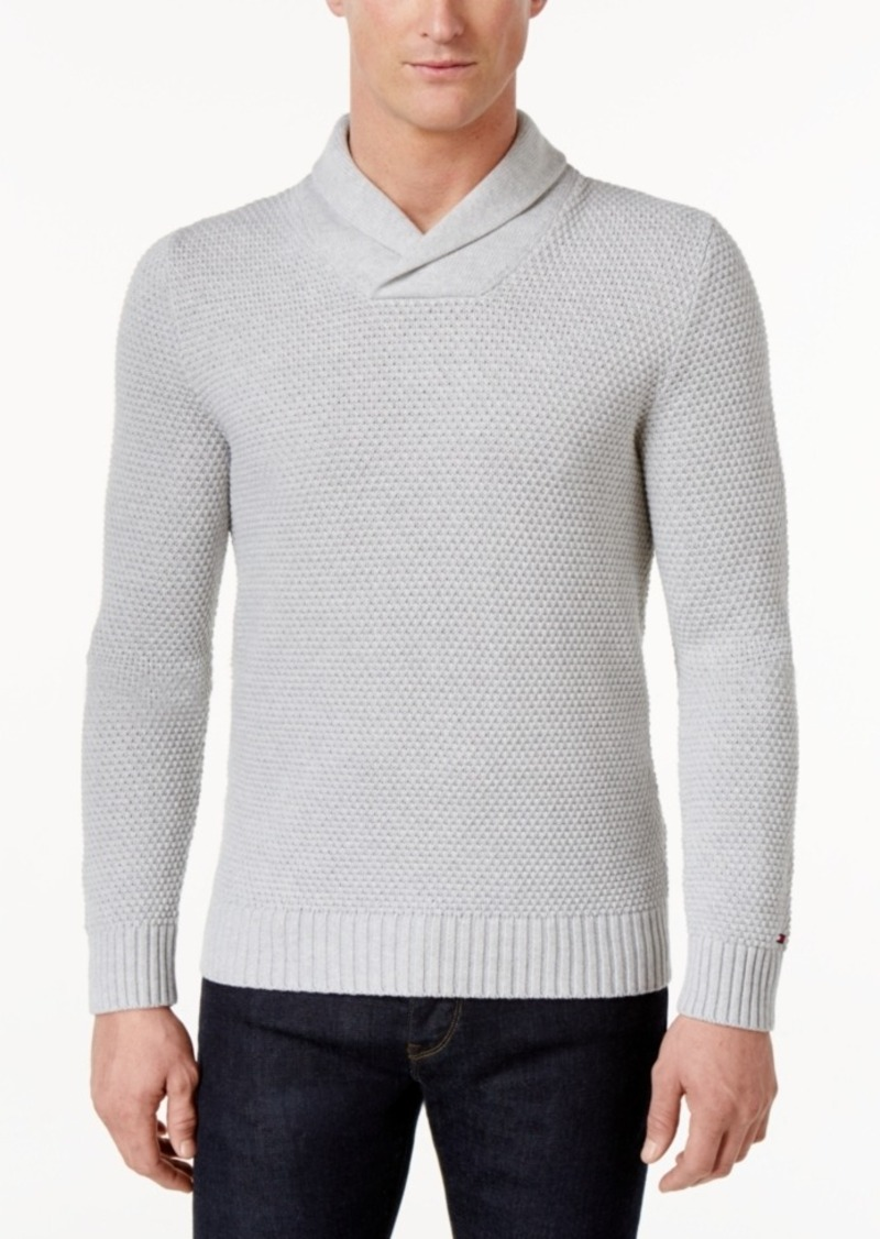01848ff1f Tommy Hilfiger Tommy Hilfiger Men s Textured Shawl-Collar Sweater ...