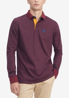 Tommy Hilfiger Men's Th Luxe Brewster Custom-Fit Stripe Polo Shirt