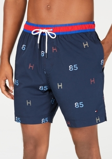 "Tommy Hilfiger Men's Th Print 6.5"" Swim Trunks, Created for Macy's"