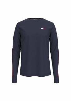 Tommy Hilfiger Men's Tommy Jeans Graphic Long Sleeve T Shirt  XL