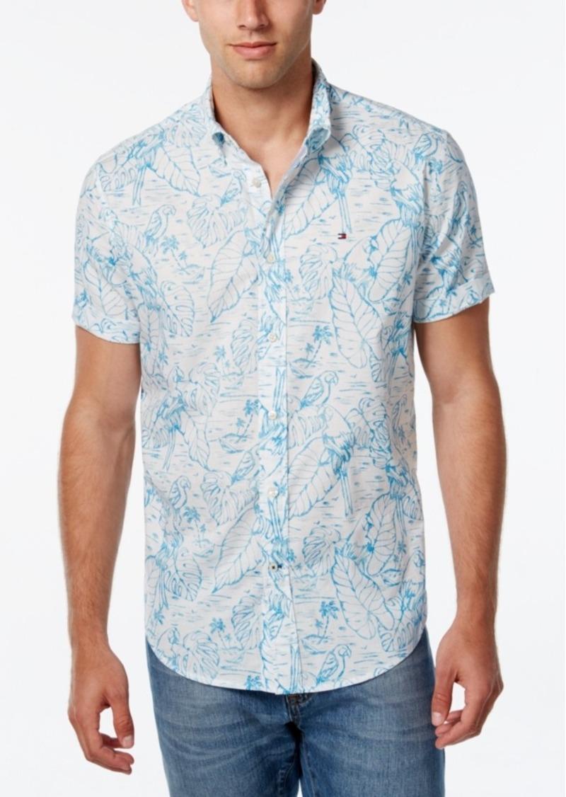Tommy Hilfiger Men's Tropical-Print Short-Sleeve Shirt