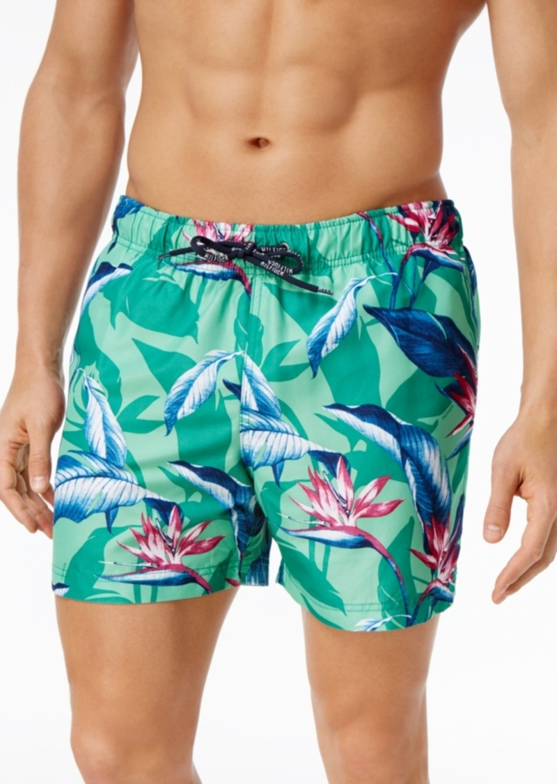 9c678d4debf74 Tommy Hilfiger Tommy Hilfiger Men's Tropical Print Swim Trunks ...