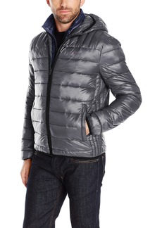 Tommy Hilfiger Men's Ultra Loft Insulated Packable Jacket with Contrast Bib and Hood  M