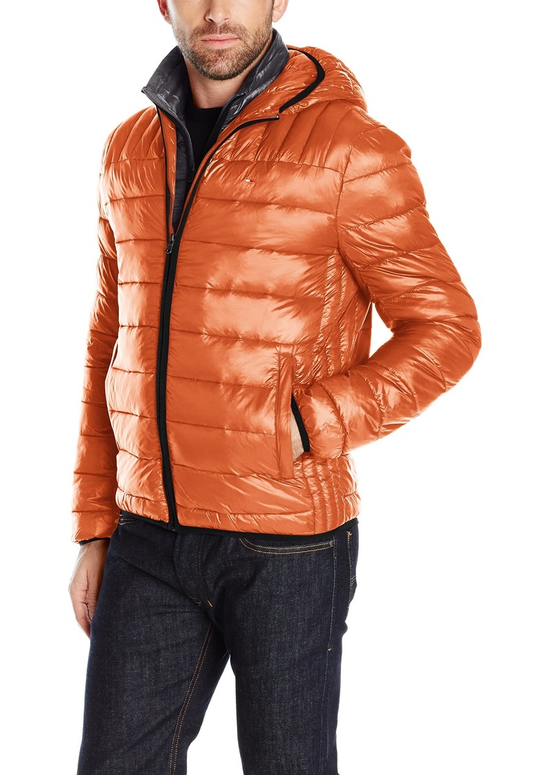 b9afaad59 Men s Ultra Loft Insulated Packable Jacket With Contrast Bib and Hood XXL. Tommy  Hilfiger