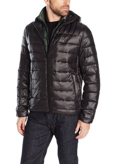 Tommy Hilfiger Men's Ultra Loft Insulated Packable Jacket With Contrast Bib and Hood  XXL