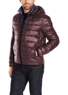 Tommy Hilfiger Men's Ultra Loft Insulated Packable Jacket With Contrast Bib and Hood  XL