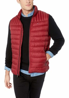 Tommy Hilfiger Men's Ultra Loft Quilted Puffer Vest red