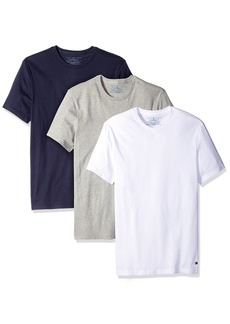 Tommy Hilfiger Men's Undershirts 3 Pack Cotton Classics Crew Neck T-Shirt White/Grey Heather/Navy