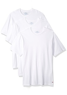 Tommy Hilfiger Men's Undershirts 3 Pack Cotton Classics Slim Fit Crew T-Shirt