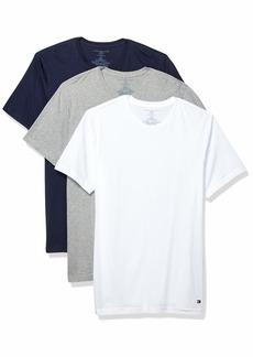 Tommy Hilfiger Men's Undershirts 3 Pack Cotton Classics Slim Fit Crew T-Shirt