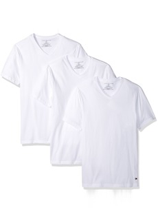 Tommy Hilfiger Men's Undershirts 3 Pack Cotton Classics Slim Fit V-Neck T-Shirt  (42-44)