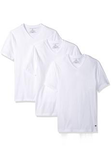Tommy Hilfiger Men's Undershirts 3 Pack Cotton Classics Slim Fit V-Neck T-Shirt  XX-Large(50-52)