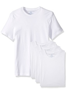 Tommy Hilfiger Men's Undershirts 4 Pack Cotton Classics Crew Neck T-Shirts