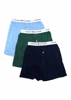 Tommy Hilfiger Men's Underwear 3 Pack Cotton Classics Knit Boxers ROYAL BLUE