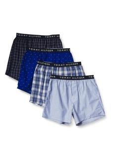 Tommy Hilfiger Men's Underwear Cotton 4 Pack Woven Boxers