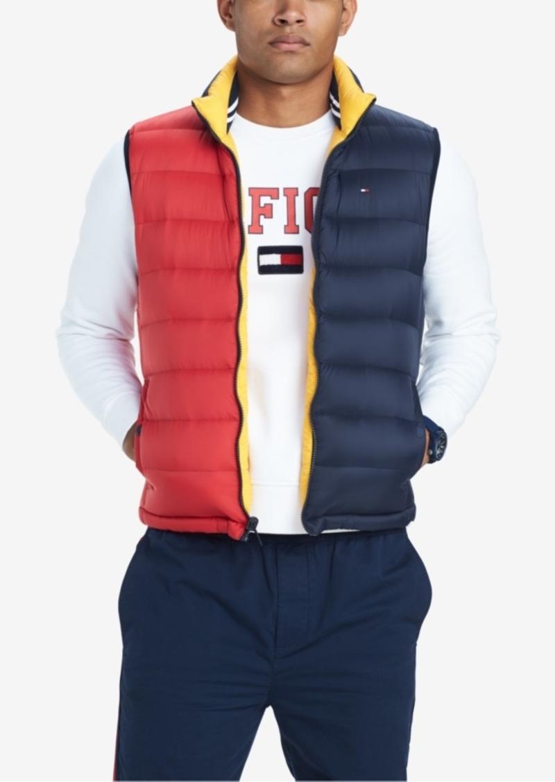 685ed17d0 Men's Valero Reversible Colorblocked Down Puffer Vest, Created for Macy's