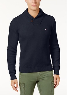 Tommy Hilfiger Men's Waffle Knit Shawl-Collar Sweater